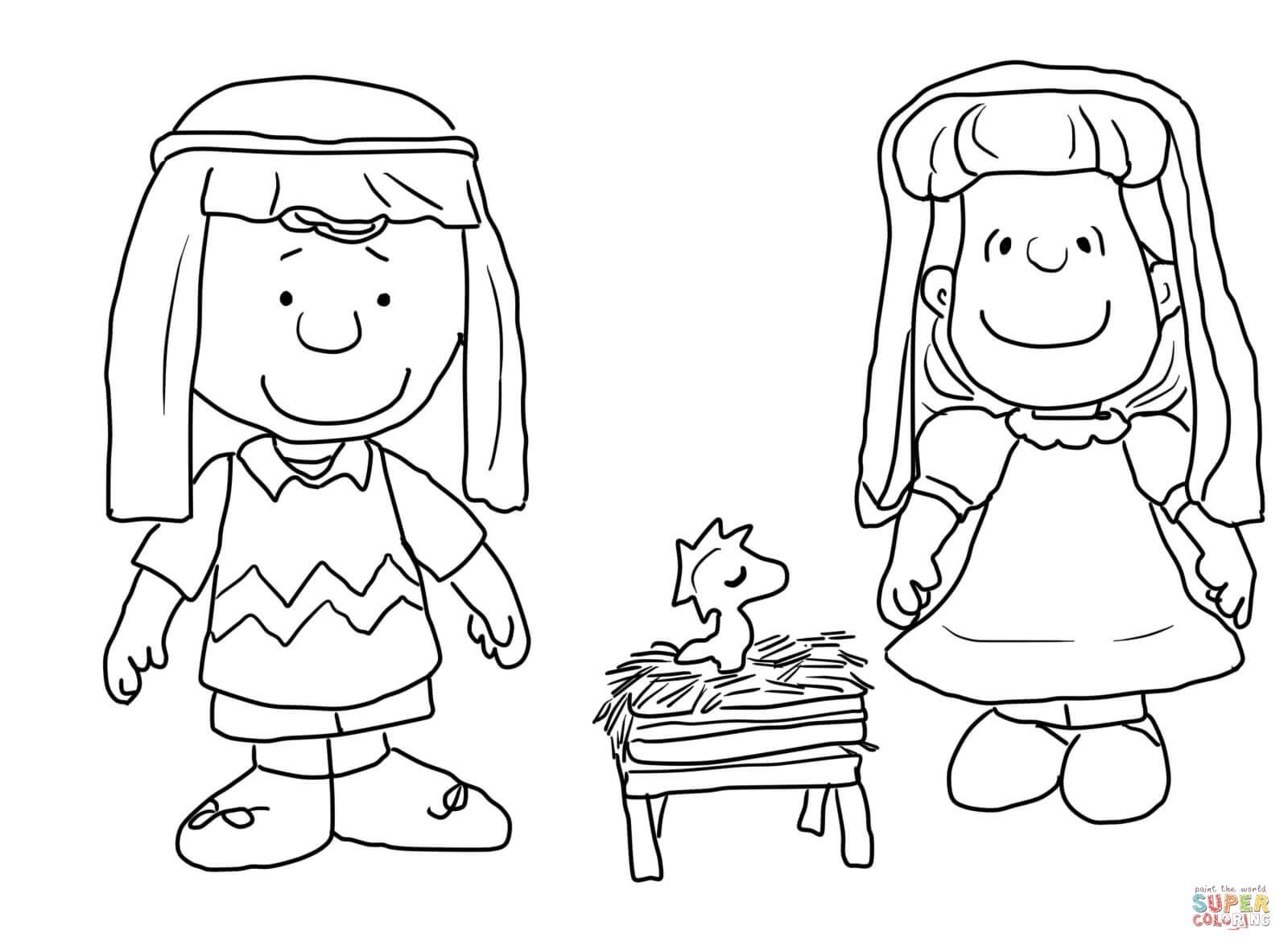 Charlie Brown Christmas Nativity Coloring Page | Free avec Sudoku Junior À Imprimer