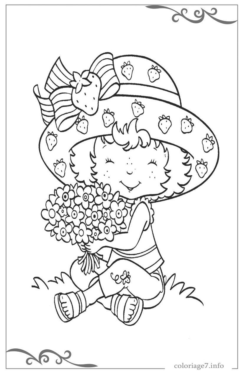 Charlotte Aux Fraises Coloriages Pour Les Enfants tout Charlotte Au Fraise Coloriage