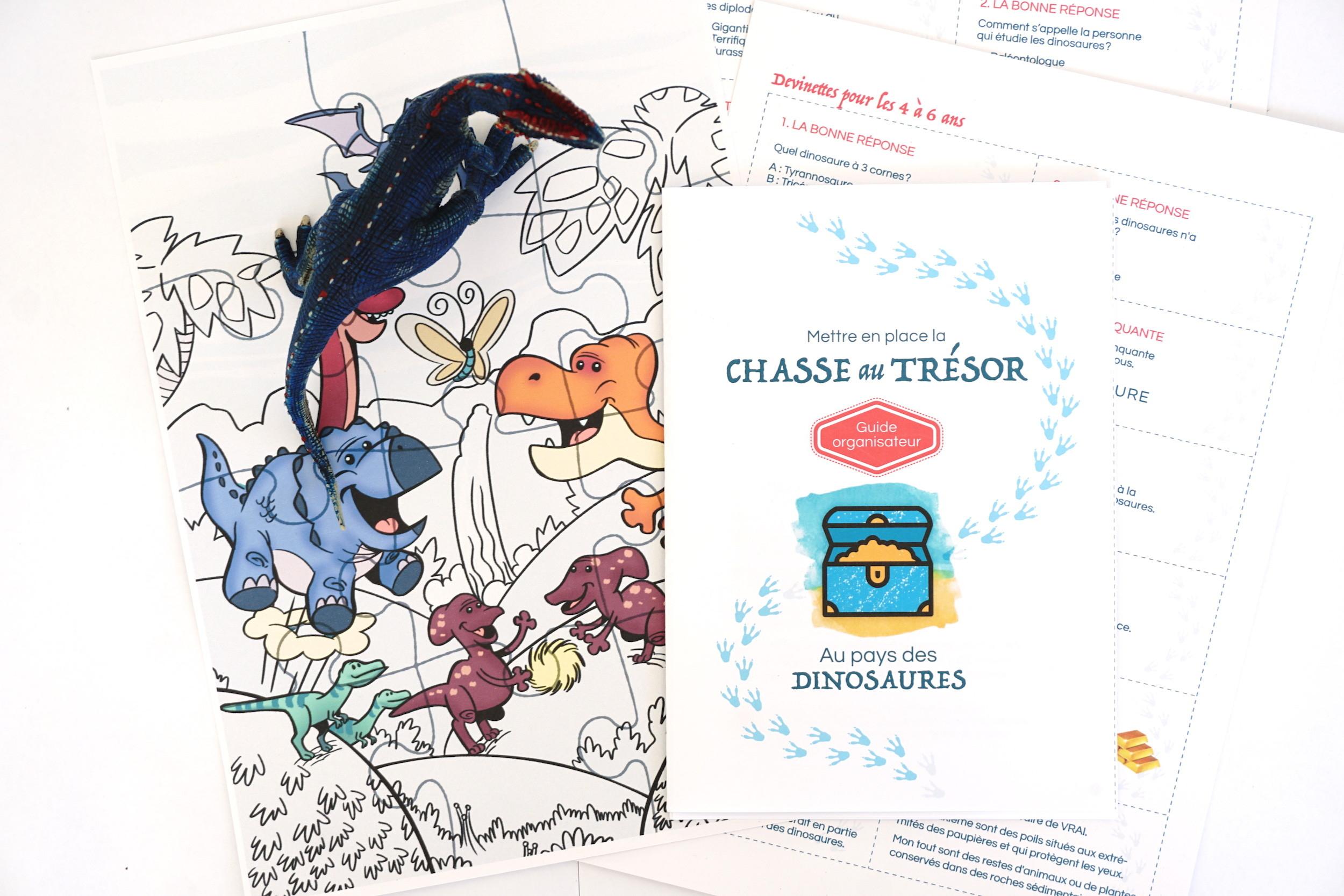 Chasse Au Trésor À Imprimer Immédiatement Sur Les Dinosaures pour Jeux A Imprimer Pour 10 Ans