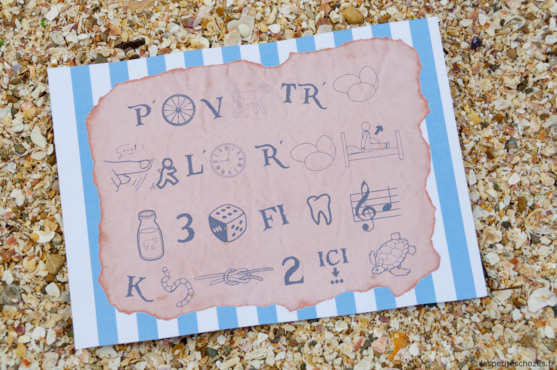 Chasse Au Trésor De Pirates | Chasse Au Trésor, Trésor De destiné Rebus A Imprimer Gratuitement