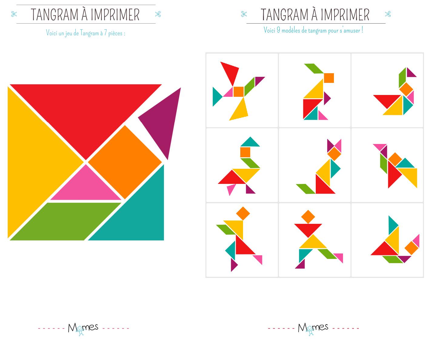 Chasse Aux Trésor De Pâques - Pikebou à Tangram A Imprimer