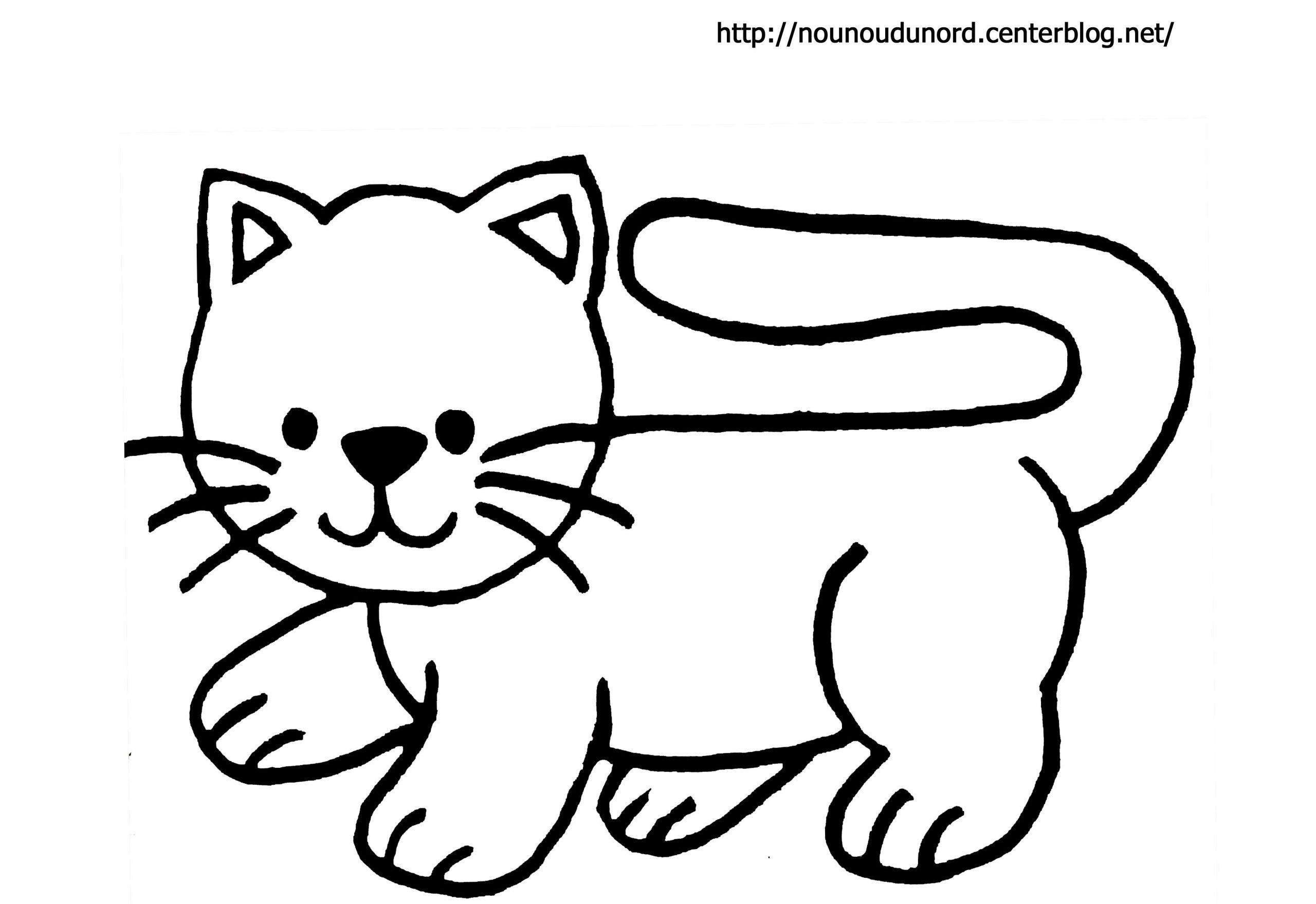 Chat #67 (Animaux) – Coloriages À Imprimer pour Minou Dessin