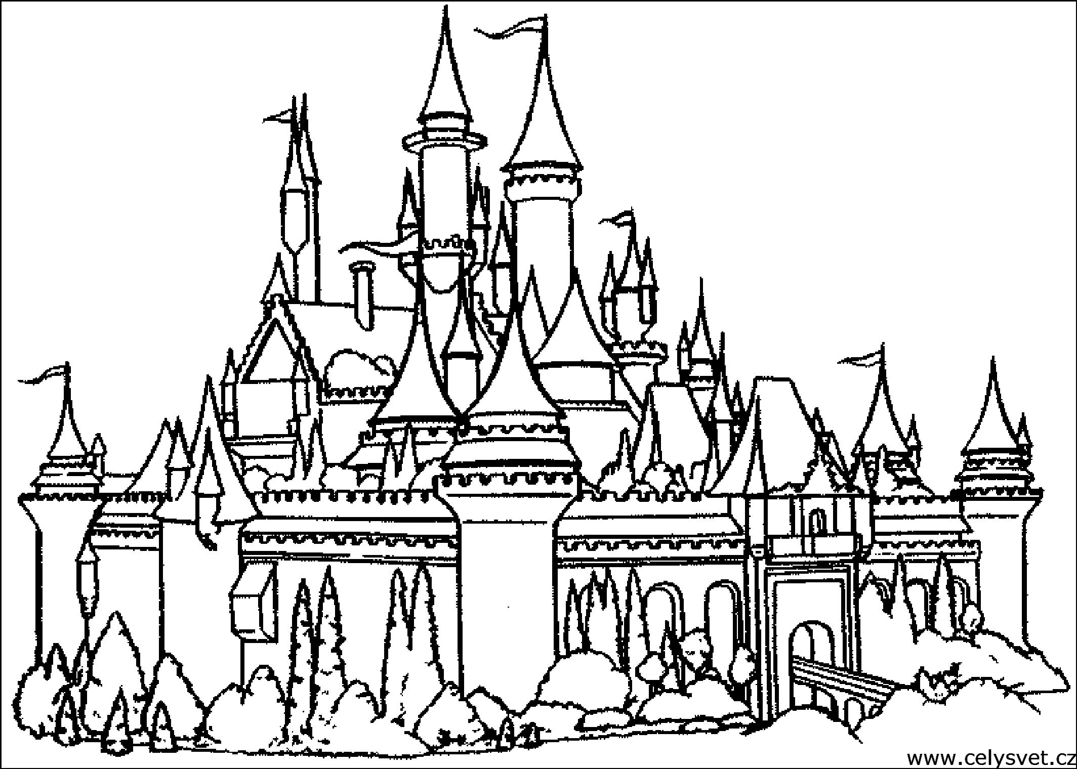 Chateau #1 (Bâtiments Et Architecture) – Coloriages À Imprimer tout Dessin Walt Disney À Imprimer