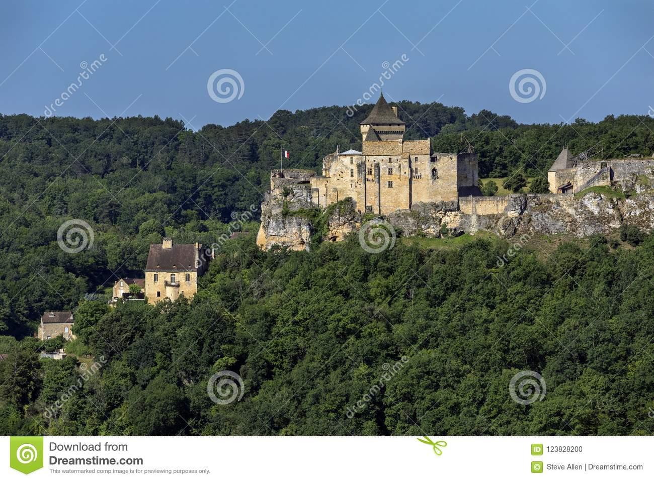 Chateau De Castelnaud - Dordogne - France Stock Photo destiné Nouvelle Region France