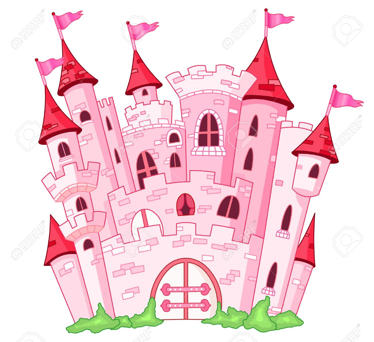 Château De Princesse Rose avec Chateau Princesse Dessin