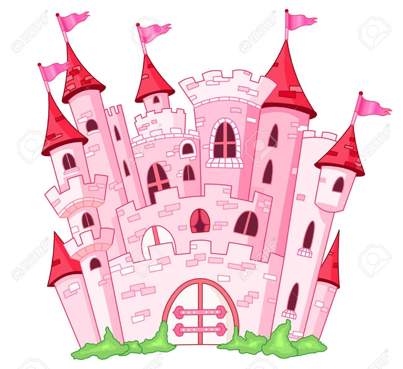 Château De Princesse Rose pour Chateau De Princesse Dessin