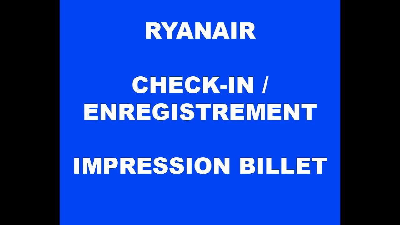 Check-In Ryanair & Achat De Son Billet D'avion - Blog  Carnetdevoyagebysylvia.fr concernant Billet A Imprimer
