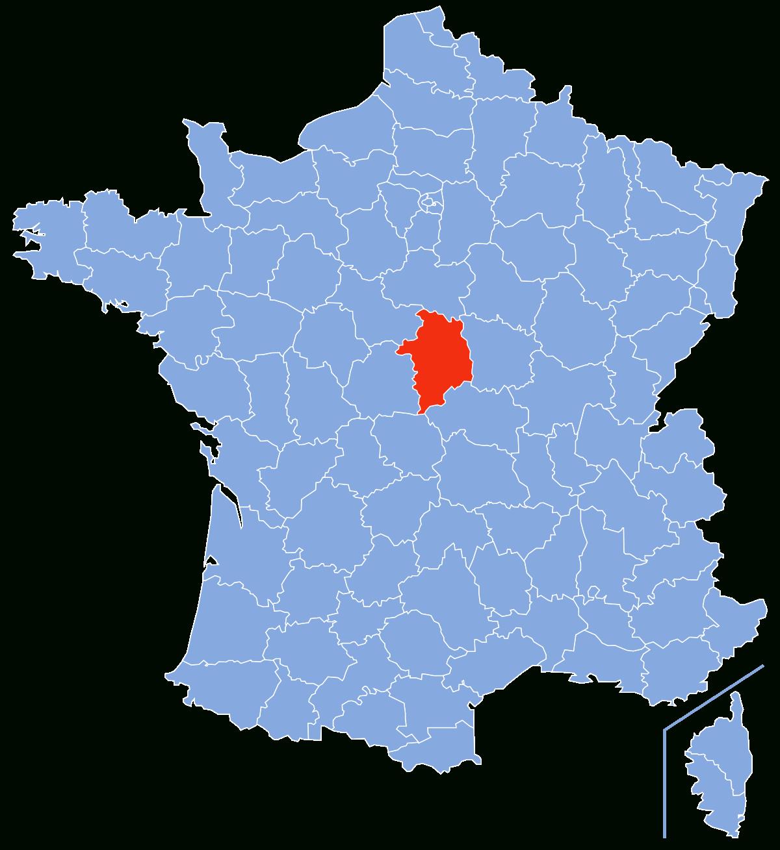 Cher (Département) — Wikipédia tout Plan De La France Par Departement