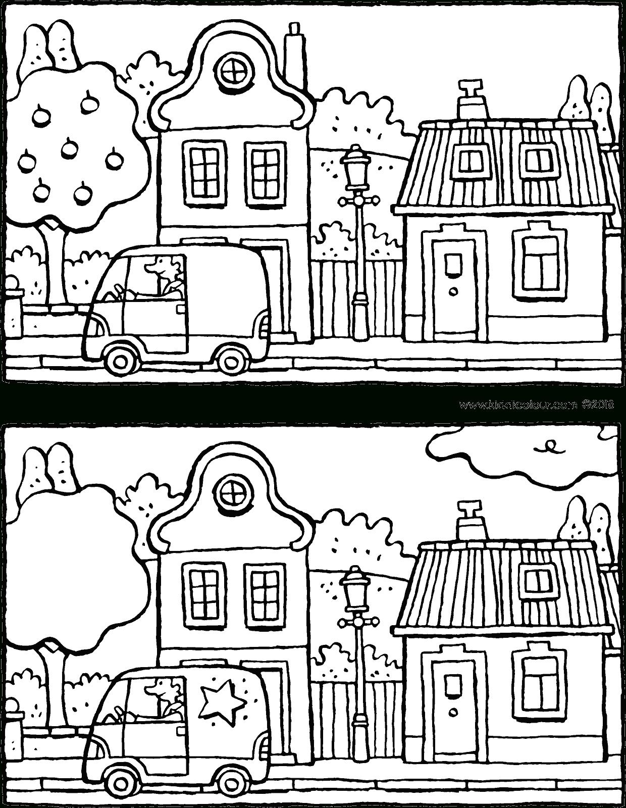 Cherche Les 5 Différences Dans Cette Rue - Kiddicoloriage à Les 5 Differences