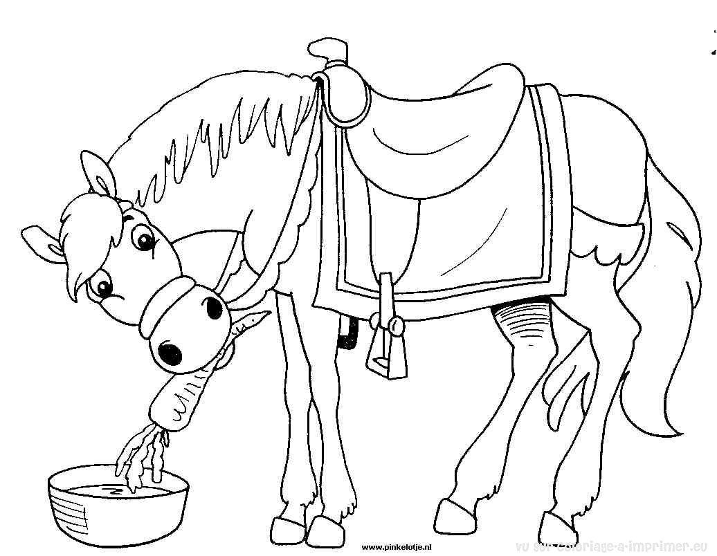Cheval #150 (Animaux) – Coloriages À Imprimer concernant Image De Cheval A Colorier