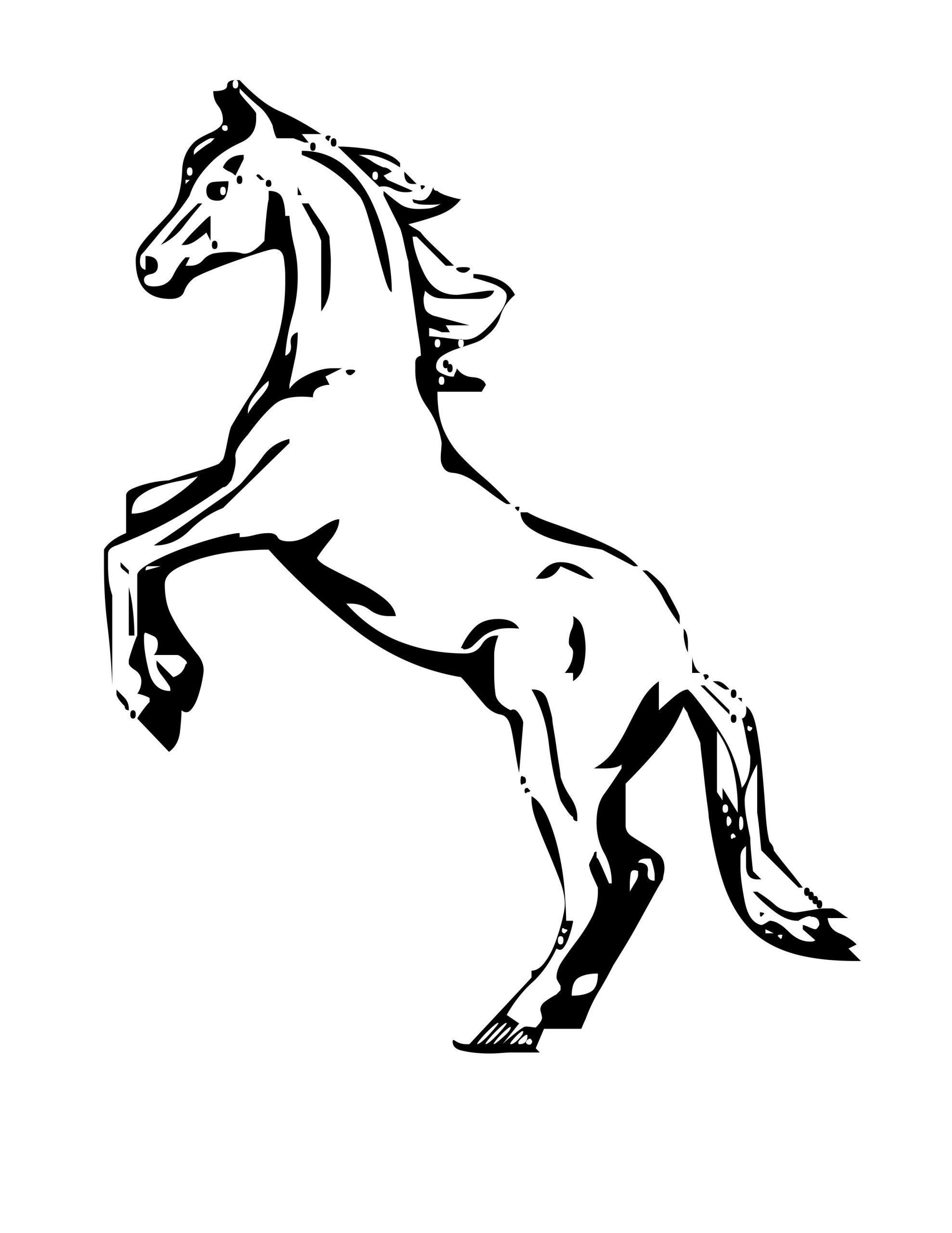 Cheval #27 (Animaux) – Coloriages À Imprimer pour Image De Cheval A Colorier