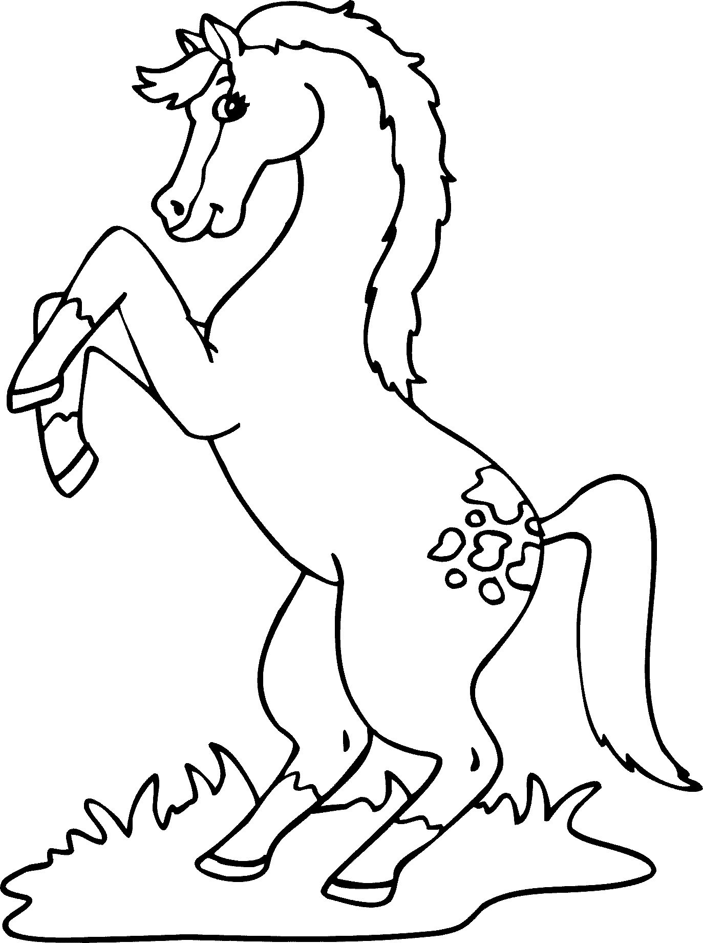 Cheval #7 (Animaux) – Coloriages À Imprimer à Dessin De Cheval A Colorier