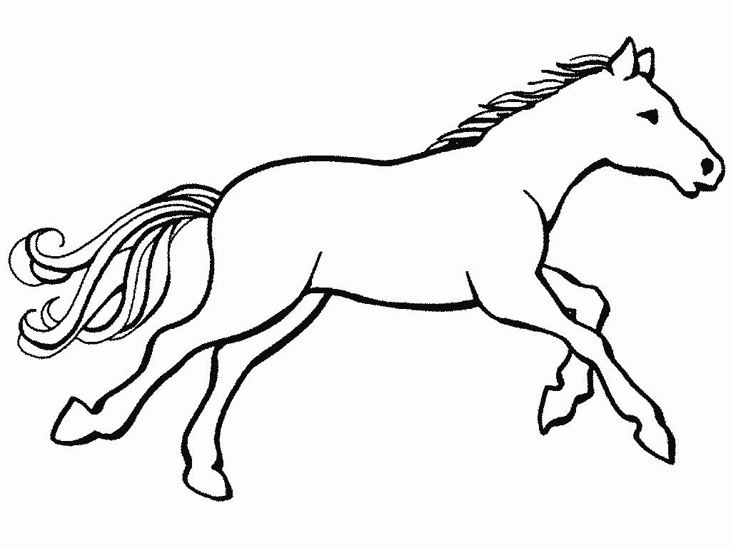 Cheval #74 (Animaux) – Coloriages À Imprimer concernant Image De Cheval A Colorier