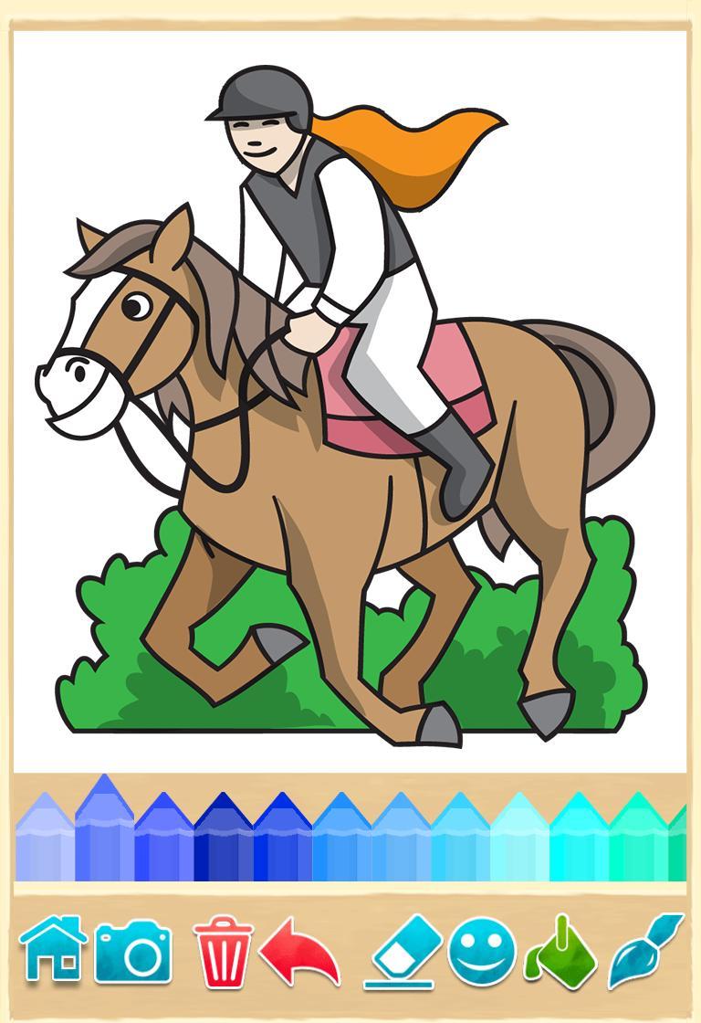 Cheval Jeu De Coloriage Pour Android - Téléchargez L'apk à Jeux De Coloriage De Cheval