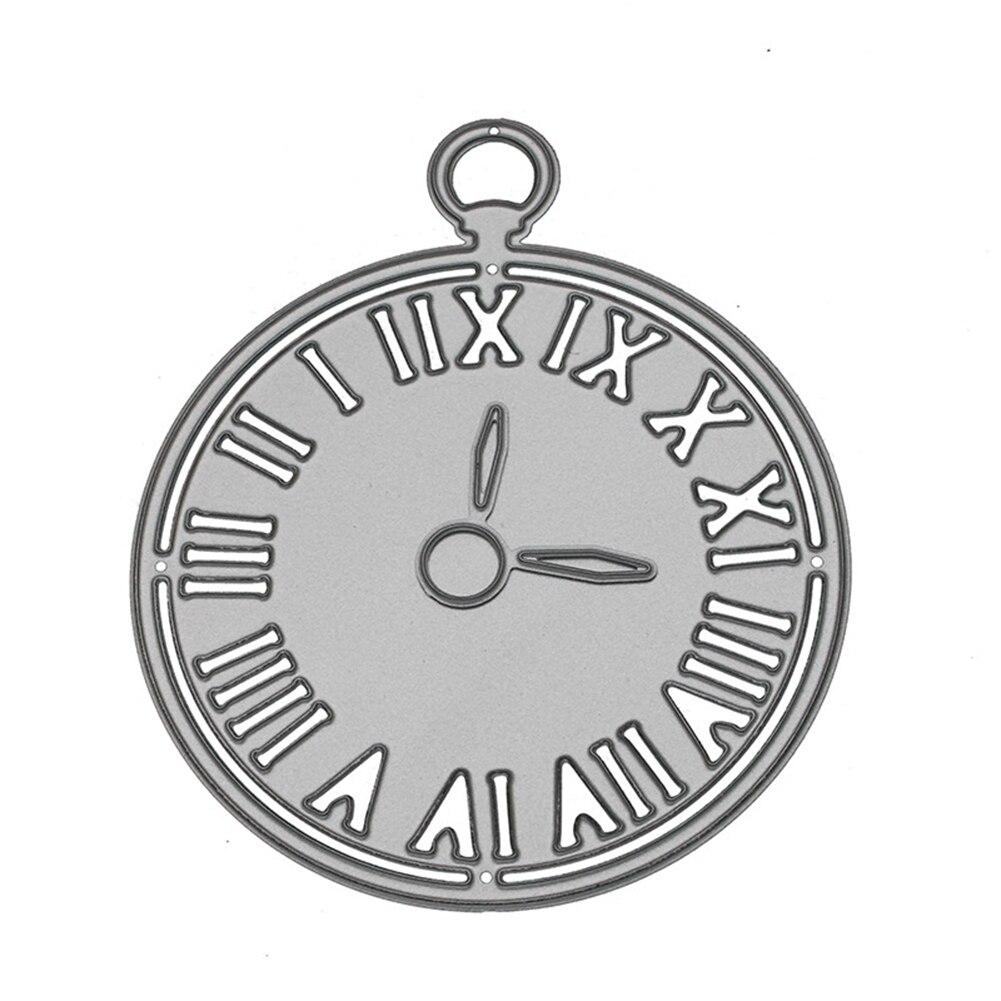 Chiffre Romain Horloge Gaufrage Pochoir De Coupe Die Pour tout Chiffre A Decouper
