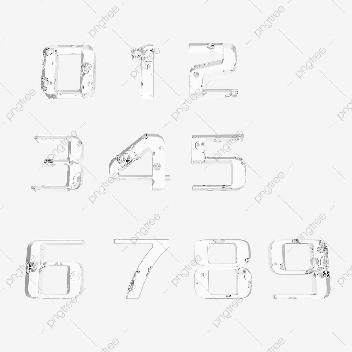 Chiffres 3D Figures Stéréo Nombres De Texture Géométrique destiné Chiffre A Decouper