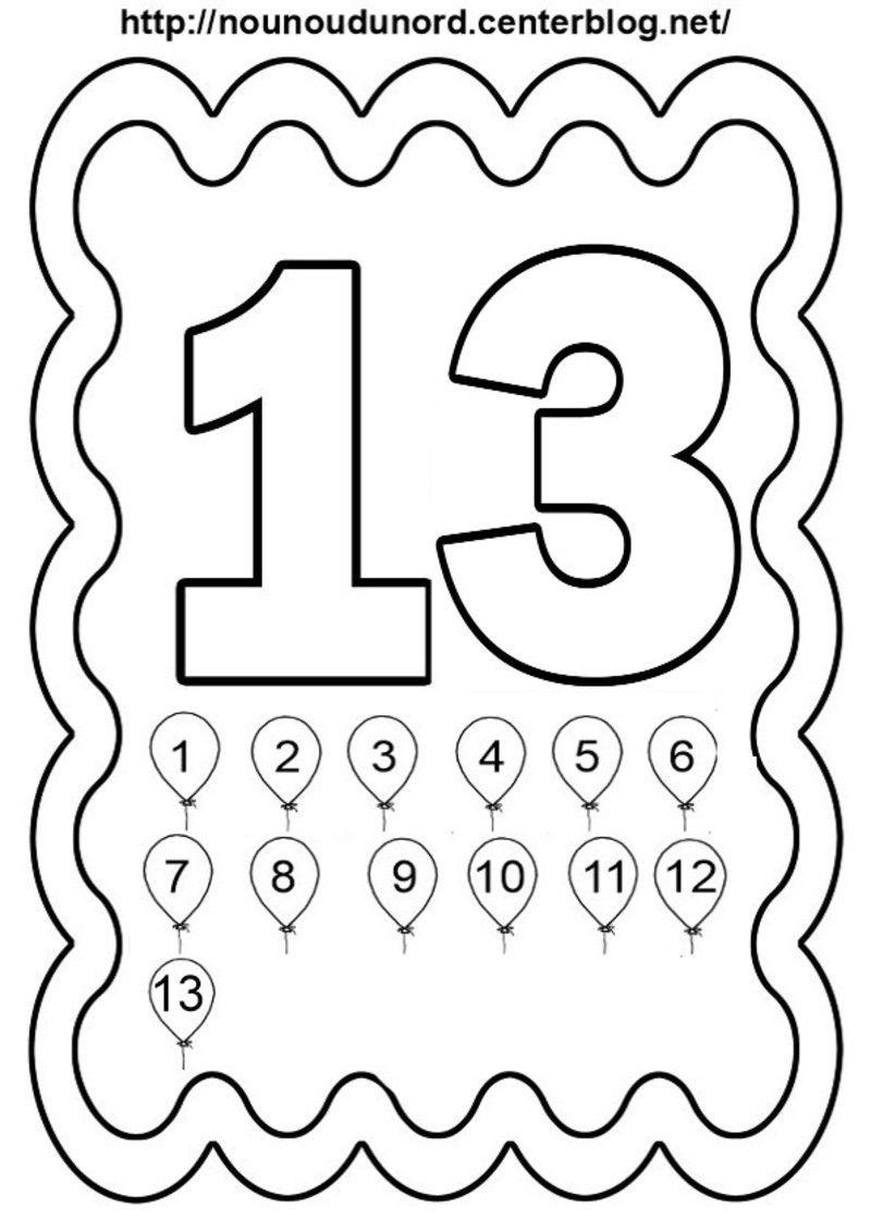 Chiffres De 11 À 20 À Colorier Illustrés Par Nounoudunord pour Etiquette Chiffre A Imprimer