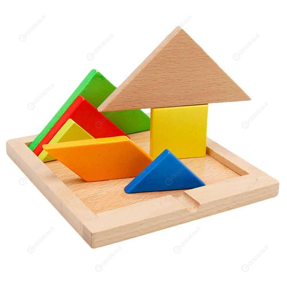 Children Mental Development Tangram Wooden Jigsaw Board Puzzle Set Toys avec Tangram En Ligne