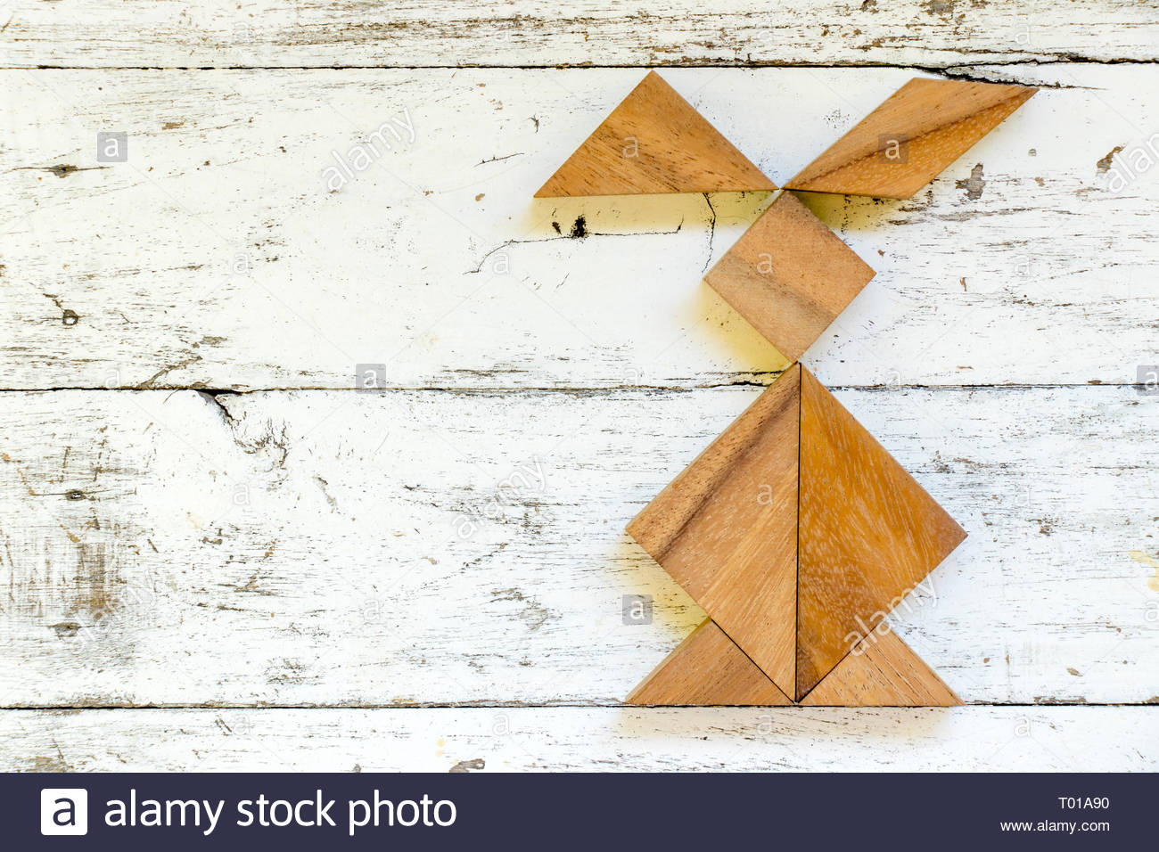 Chinese Puzzle Children Stock Photos & Chinese Puzzle avec Tangram Lapin