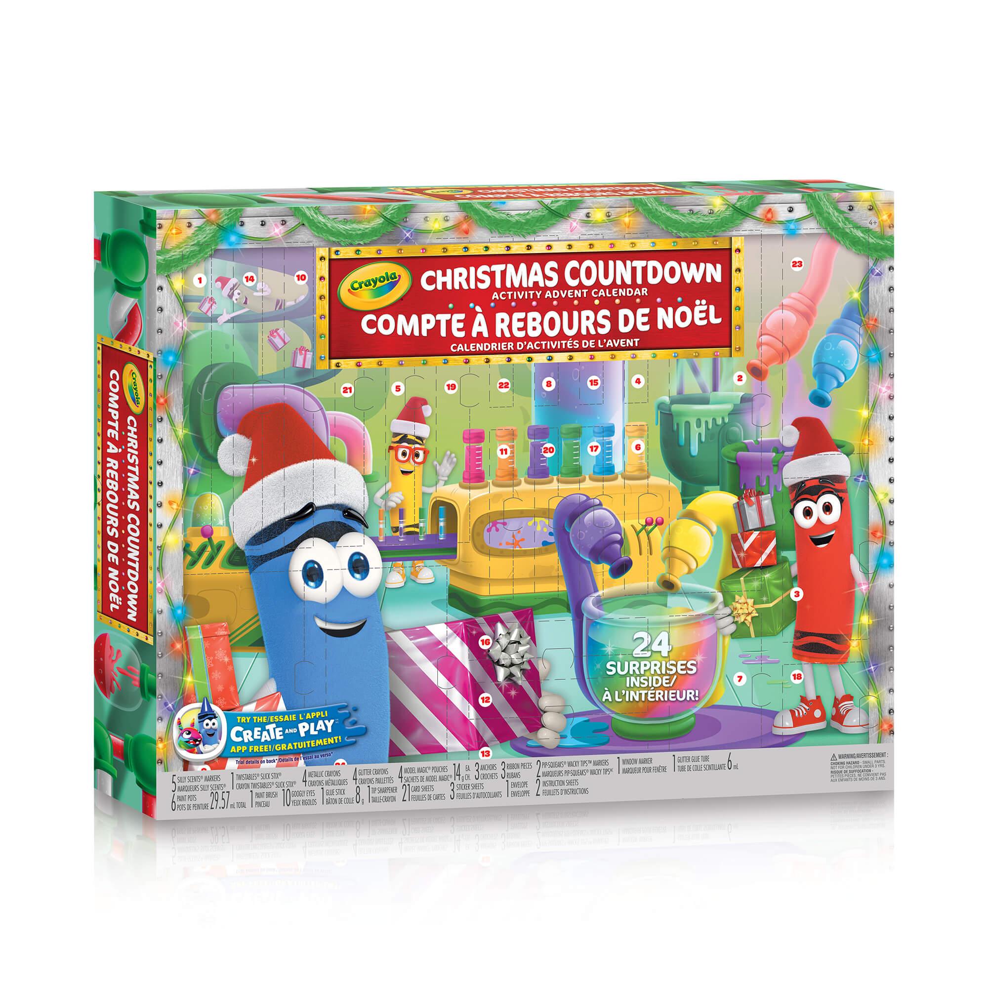 Christmas Countdown Activity Advent Calendar intérieur Paper Toy Gratuit