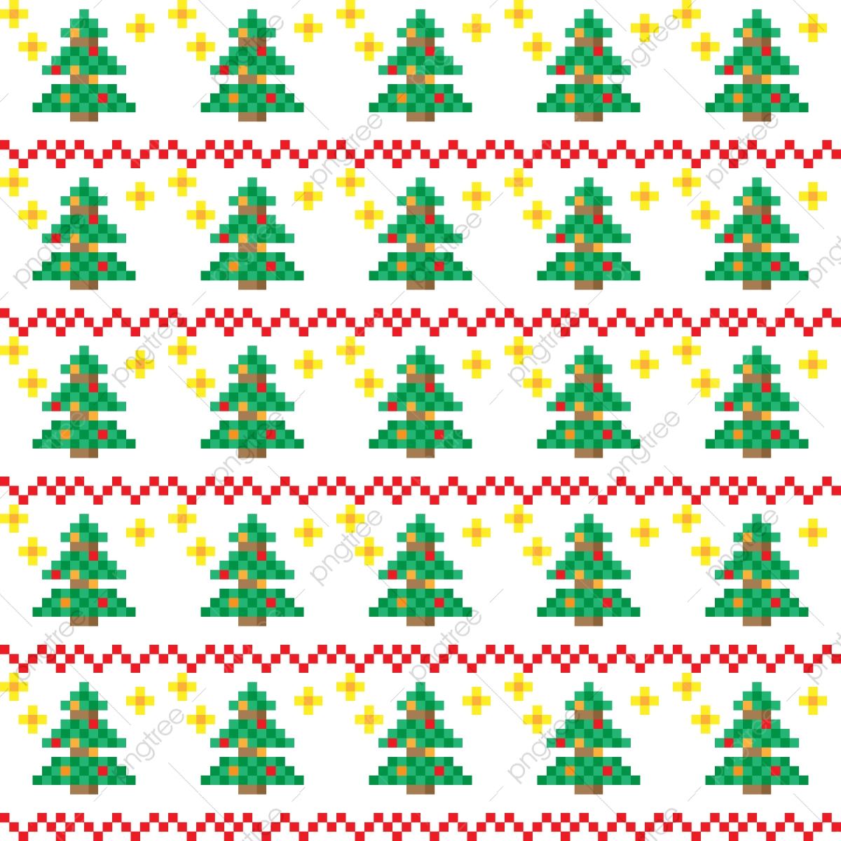 Christmas Patterns In Pixel Art Style, Christmas, Pattern dedans Pixel Art De Noël