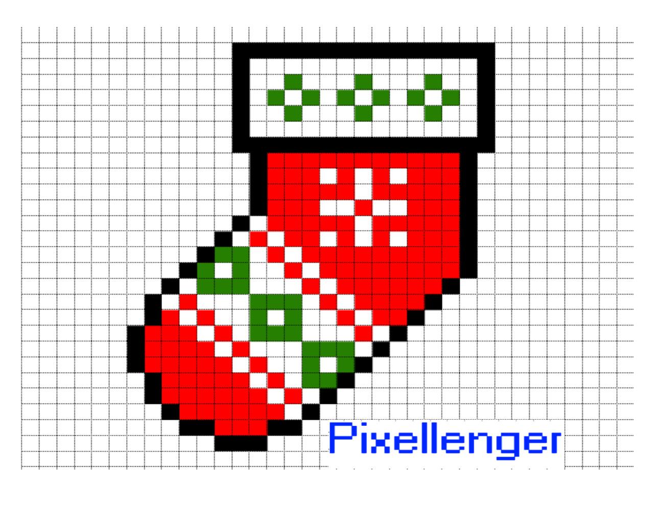Christmas Sock Pixel Art | For Kids - Read, Play, Create! concernant Pixel Art De Noël