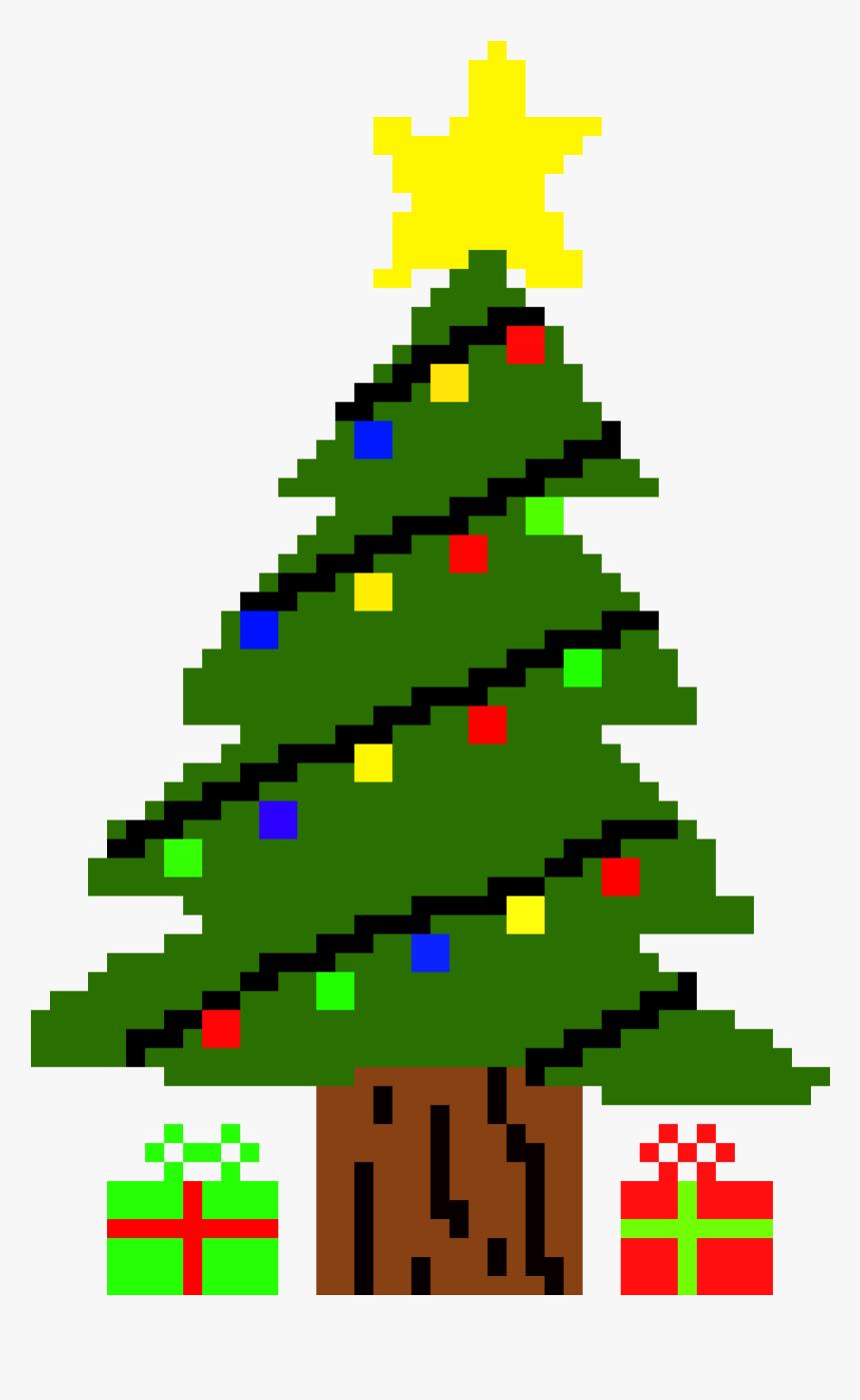 Christmas Tree Pixel Art Png, Transparent Png , Transparent tout Pixel Art De Noël