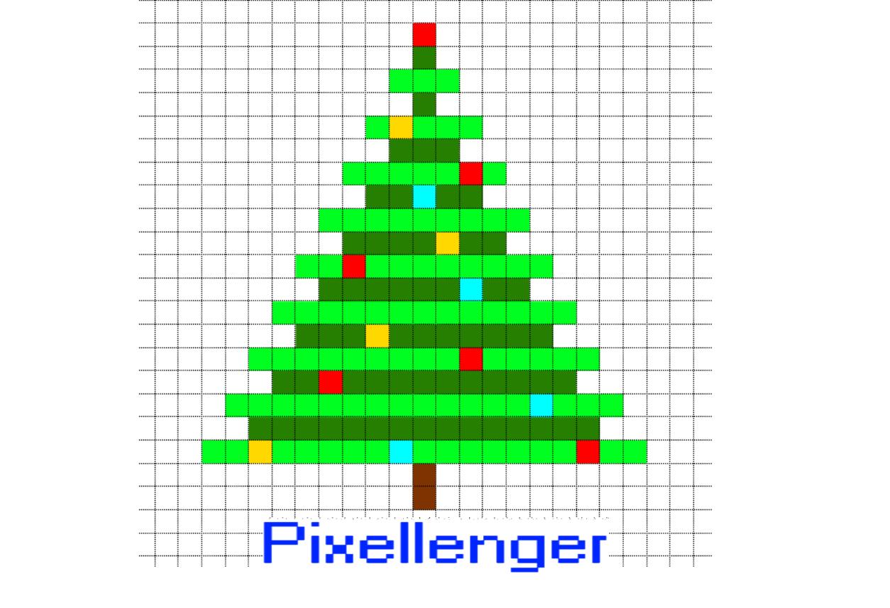 Christmas Tree Simple Pixel Art | For Kids - Read, Play, Create! intérieur Pixel Art De Noël