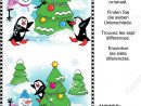 Christmas Winter Or New Year Themed Visual Puzzle: Find The Seven.. tout Rebus Noel