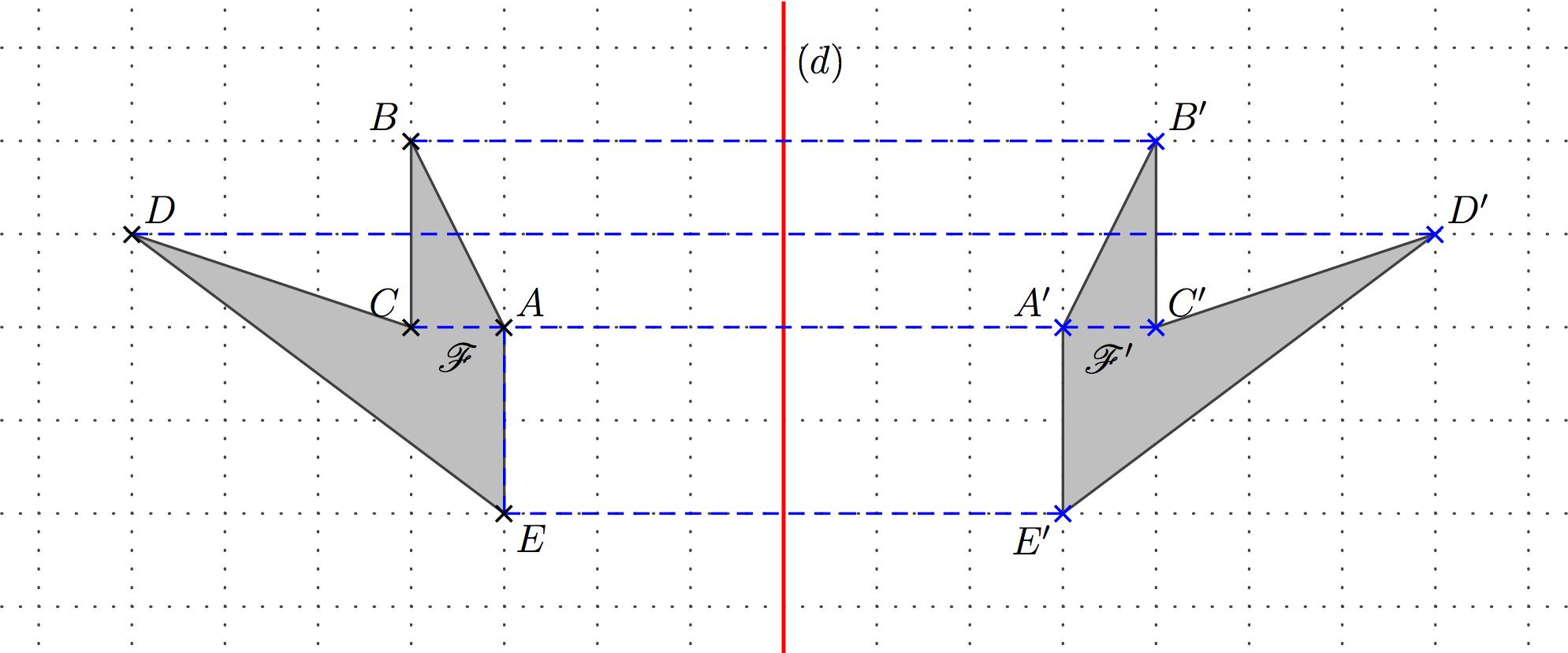 Cinquième : Symétrie tout Symétrie Quadrillage