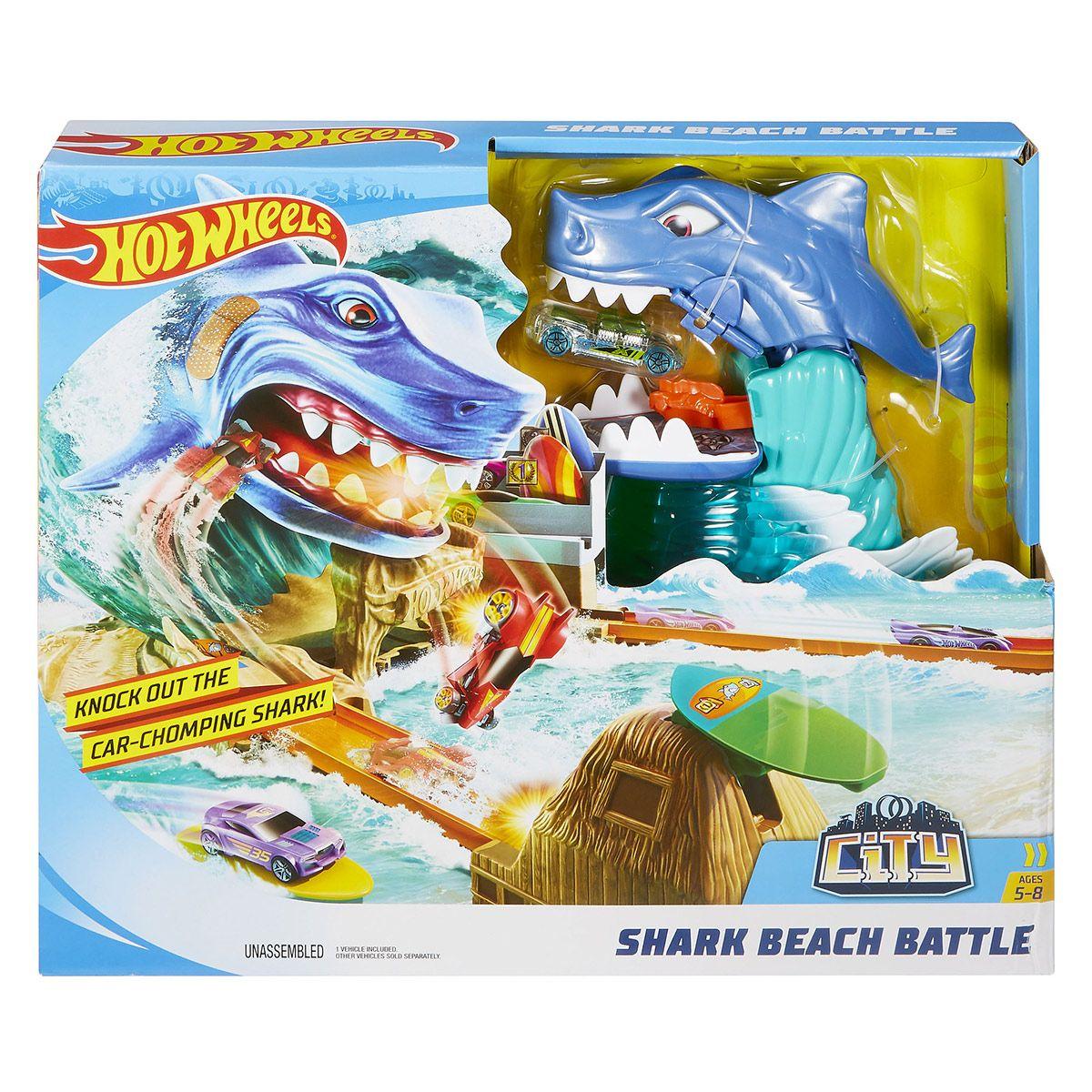 Circuit Requin Sur La Plage Hot Wheels City - Véhicules Et destiné Voiture Requin Jouet
