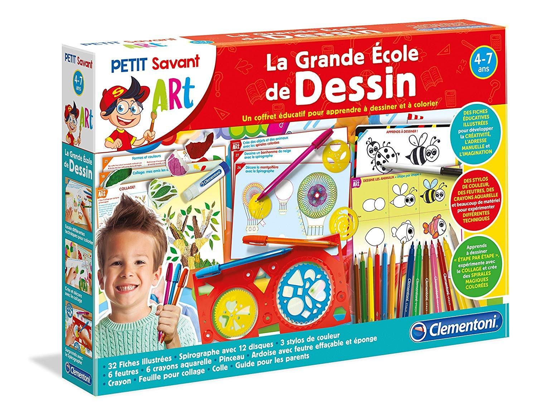 Clementoni - La Grande École De Dessin - Jeux Éducatifs à Jeu Educatif 4 Ans
