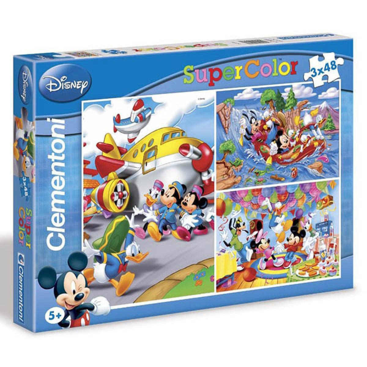 Clementoni Puzzle Enfant 3X48 Pc-Mickey - 379 - Les Puzzles à Jeux Pc Enfant