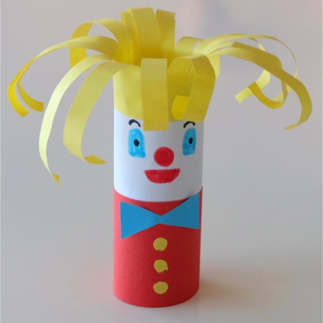 Clown En Rouleau Papier Toilette Wc #diy | Rouleau Papier tout Activité Manuelle En Papier