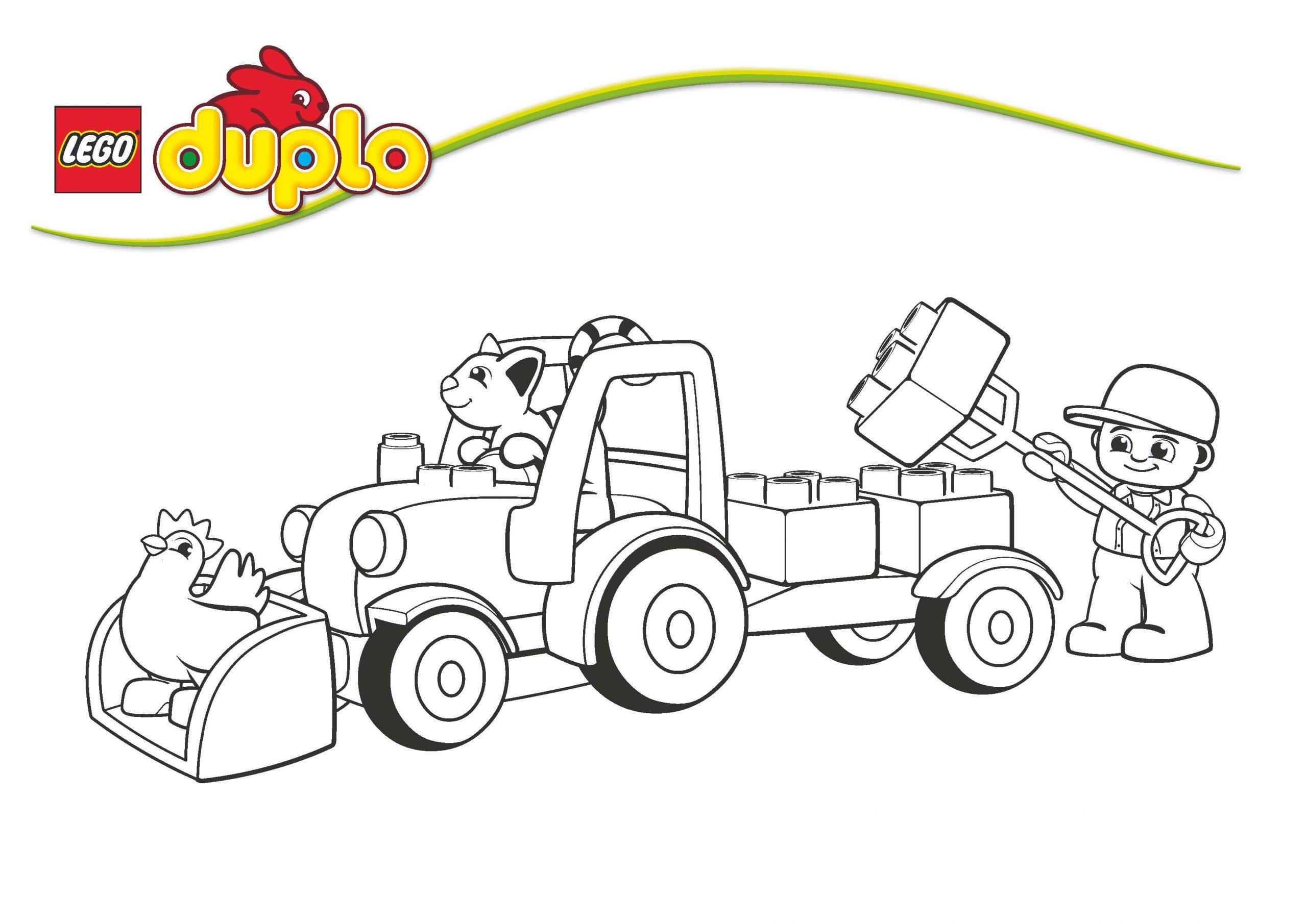 Clubdemax, Coloriage Duplo Le Tracteur - Coloriage Et avec Dessin De Tracteur À Colorier
