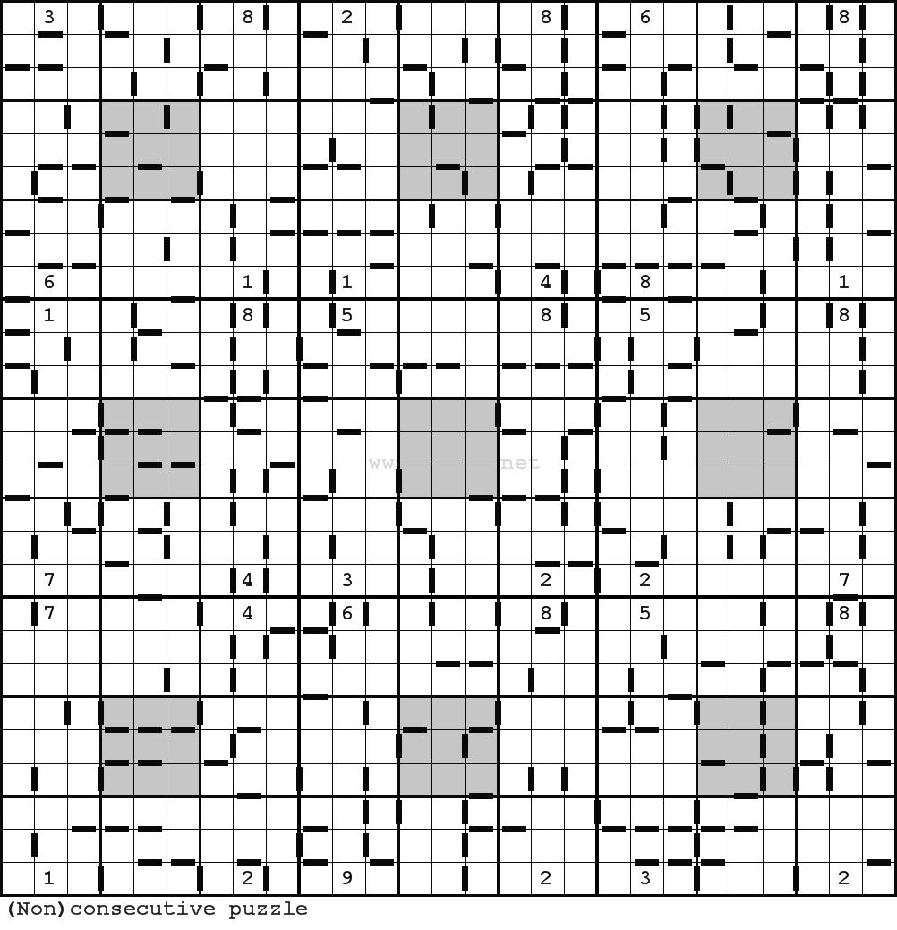 Clueless Sudoku Puzzle  Consecutive Sudoku Variant Not destiné Sudoku A Imprimer