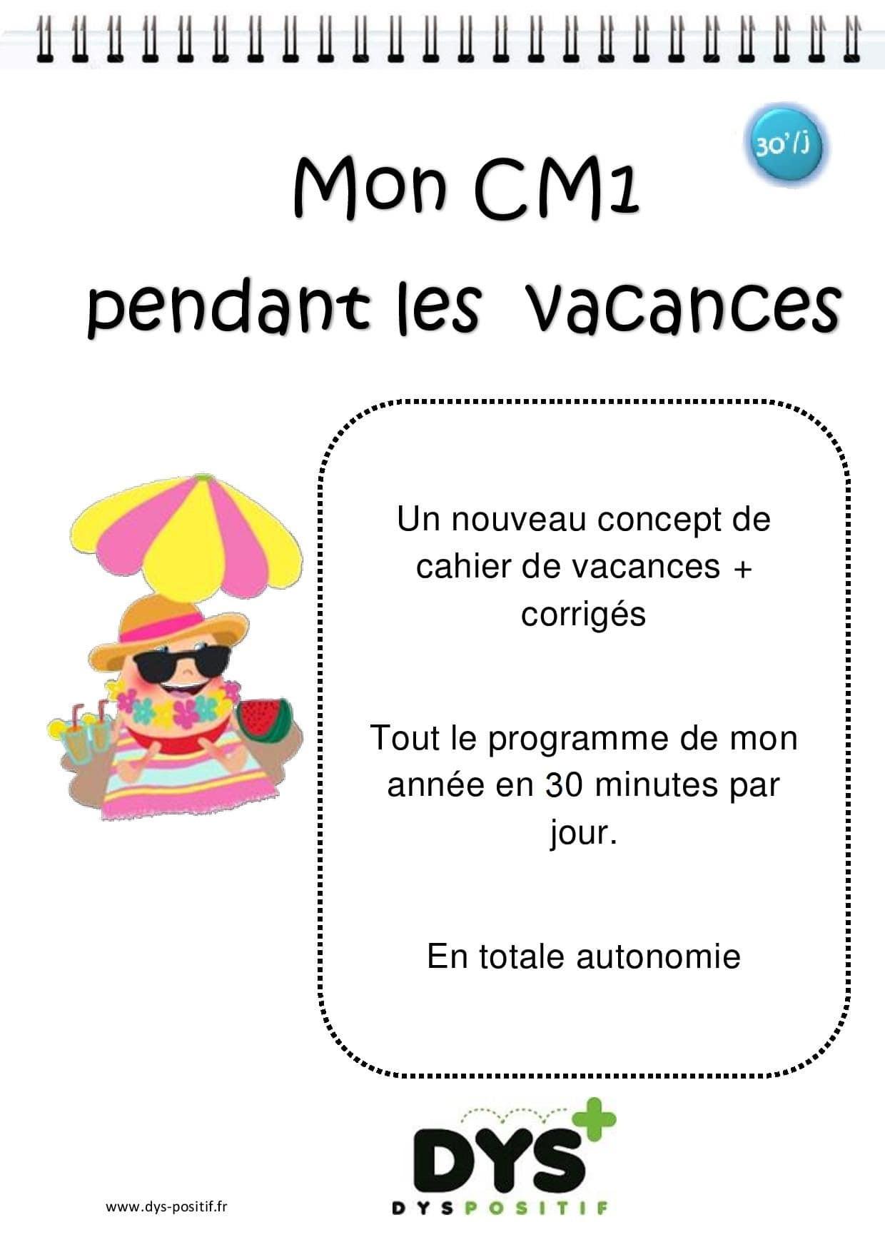 Cm1 – 4Ème Primaire - Cahiers De Vacances Dys serapportantà Cahier De Vacances À Imprimer