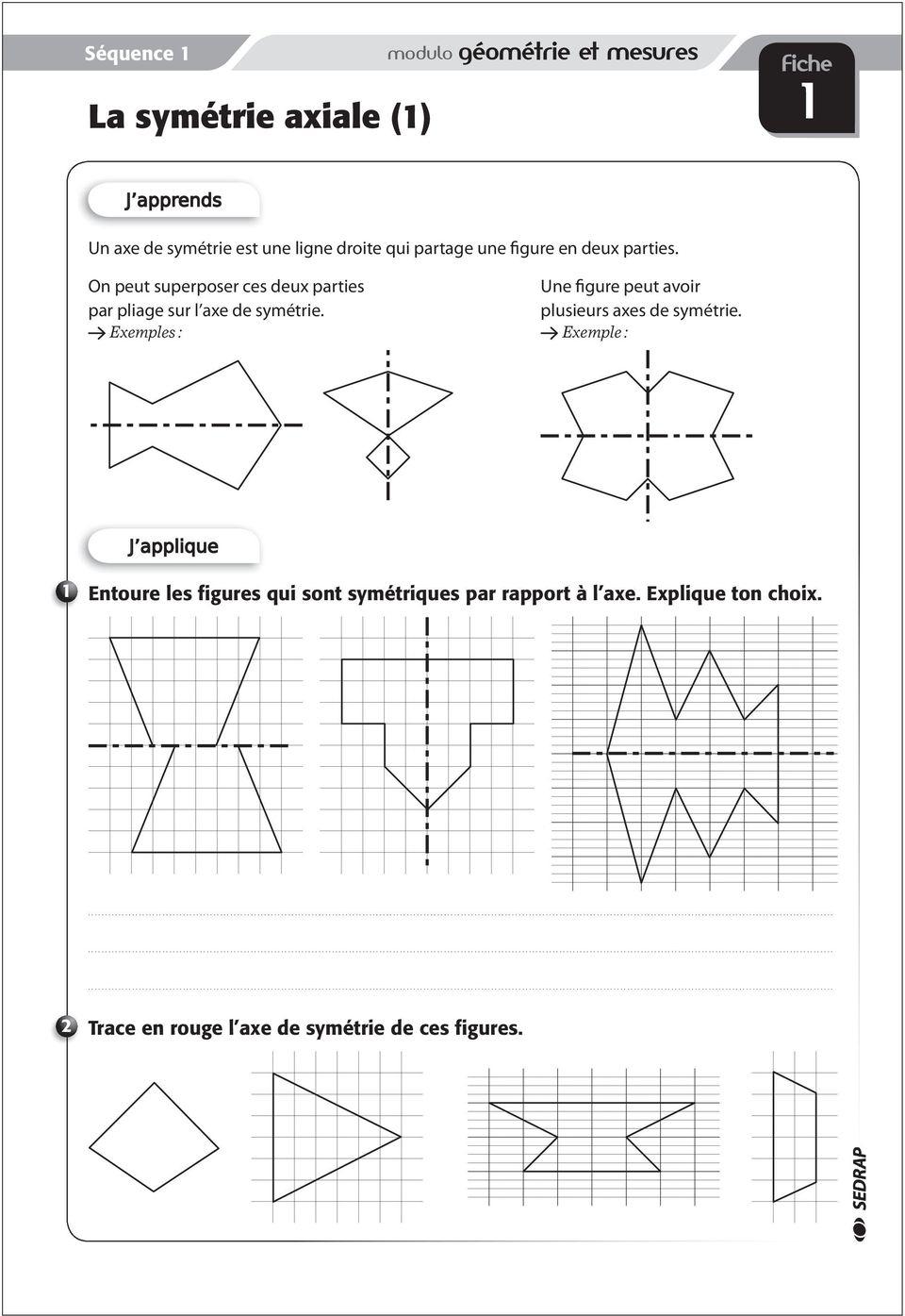 Cm1. Les F Iches D Exercices - Pdf Free Download dedans Exercice Symétrie Ce1