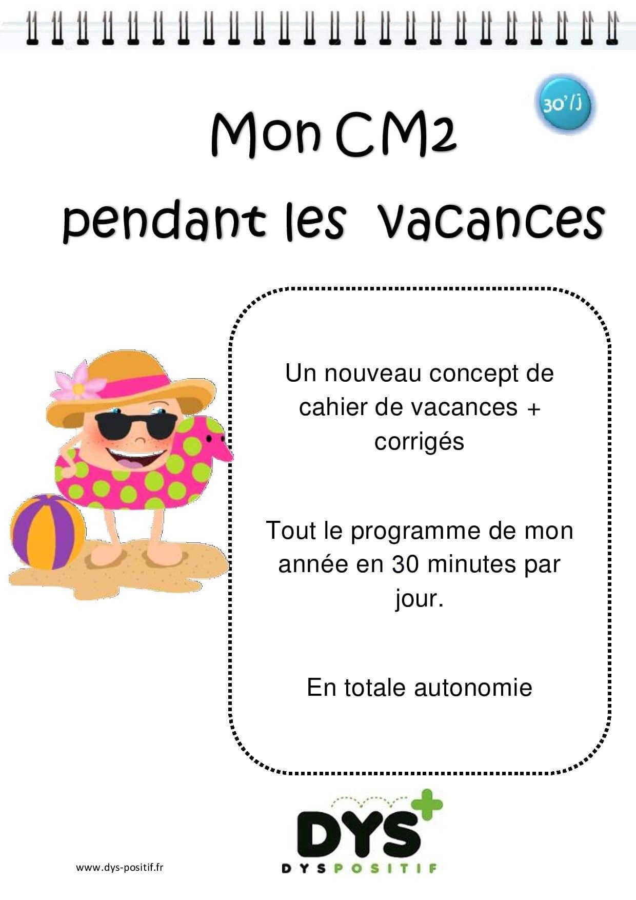 Cm2 – 5Ème Primaire - Cahiers De Vacances Dys intérieur Cahier De Vacances Gratuit A Imprimer 6Eme 5Eme