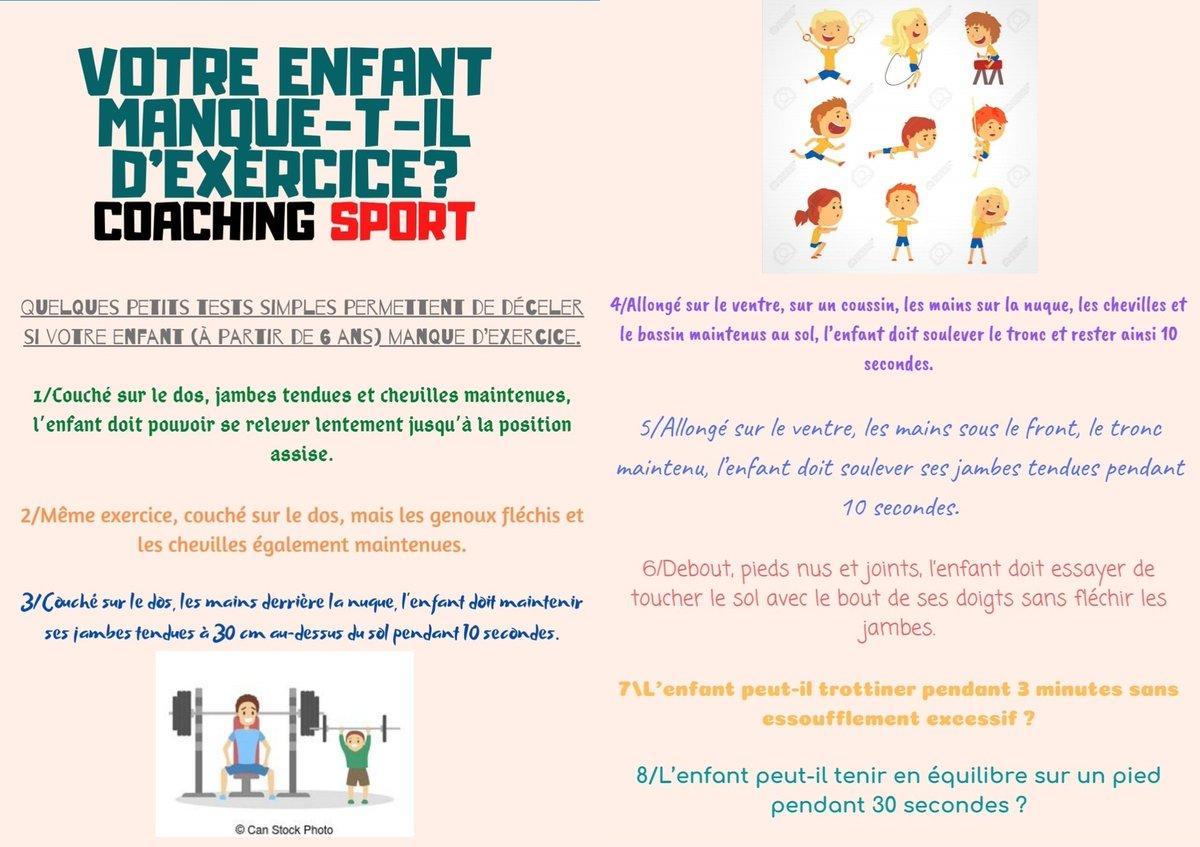"""Coaching Sport On Twitter: """"et Si Votre Enfant Manquait D encequiconcerne Exercice Enfant 4 Ans"""