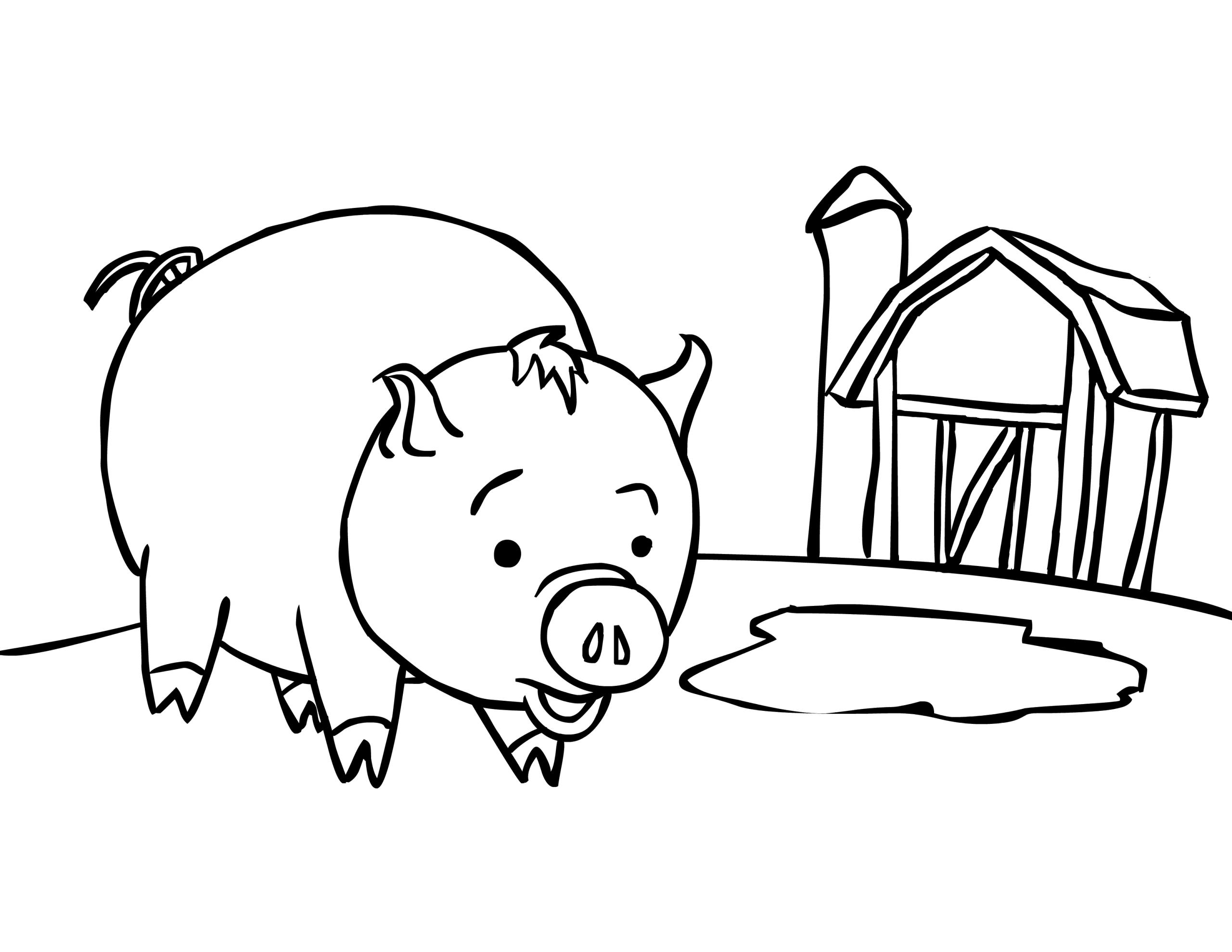 Cochon #11 (Animaux) – Coloriages À Imprimer à Dessin A Colorier Cochon