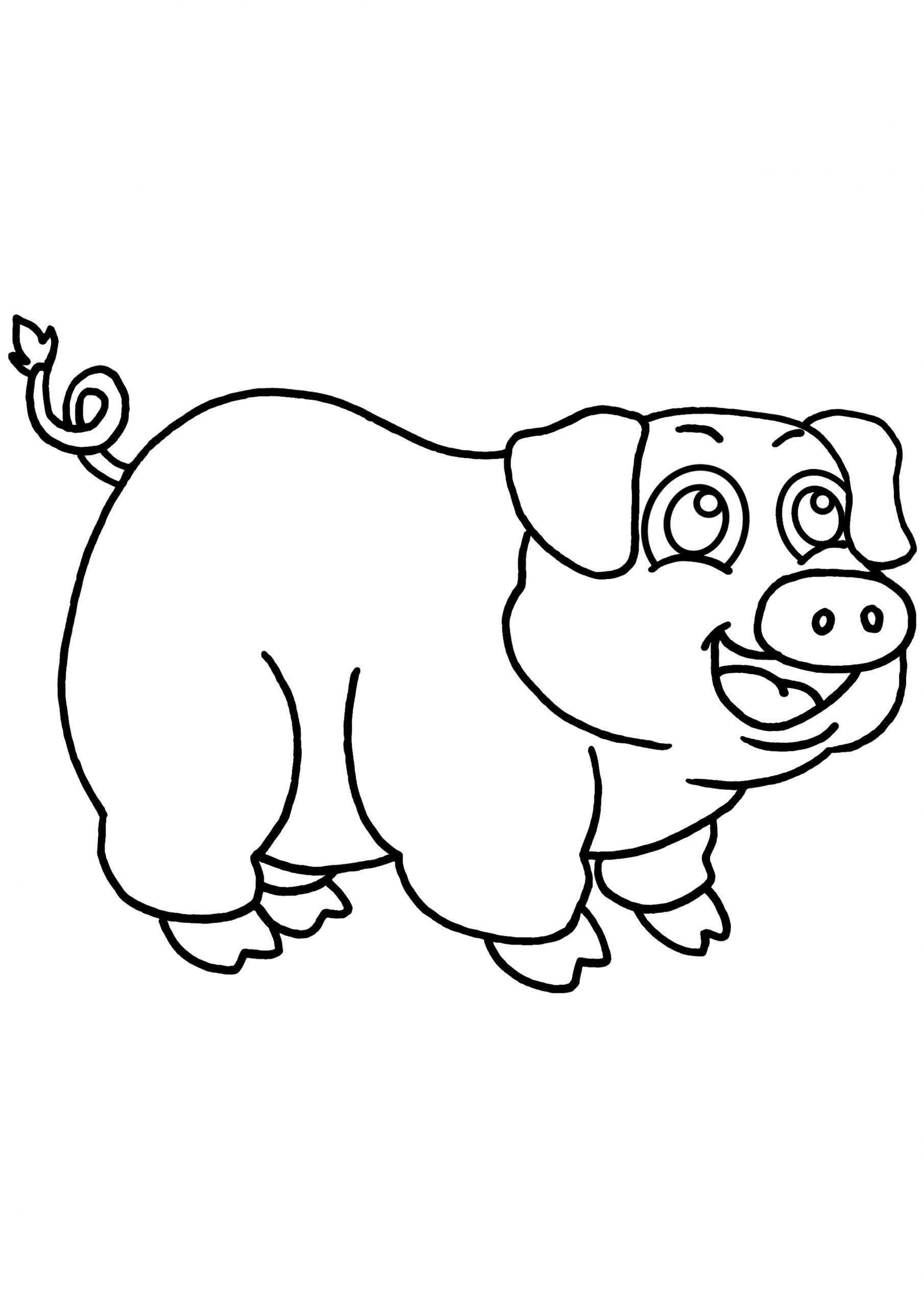 Cochon #24 (Animaux) – Coloriages À Imprimer pour Dessin A Colorier Cochon