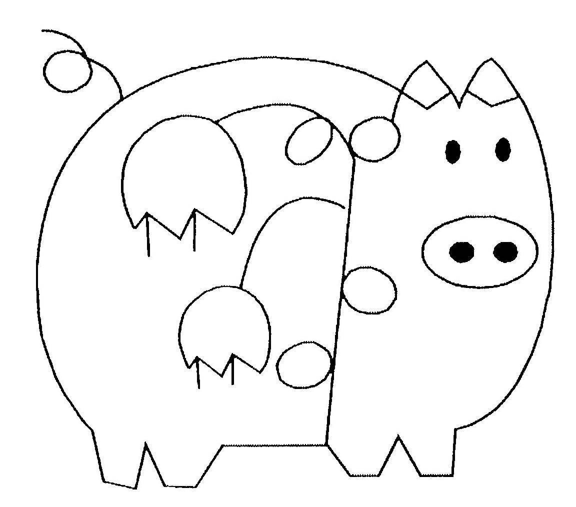 Cochon #58 (Animaux) – Coloriages À Imprimer concernant Dessin A Colorier Cochon