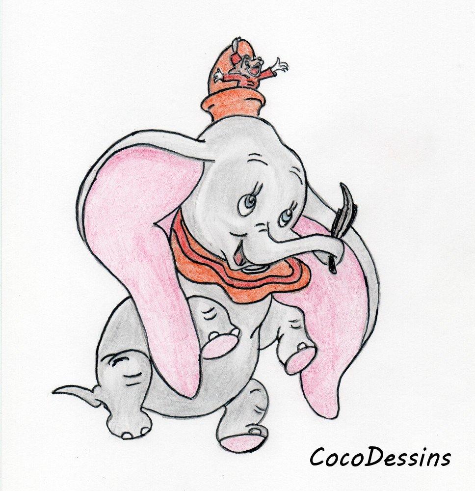 "Coco Dessins On Twitter: ""dessin De Dumbo #disney #dessin concernant Dessin Dumbo"