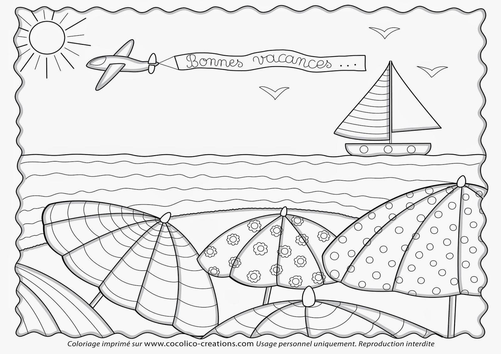 Cocolico-Creations: ✎ Coloriages avec Coloriage Sur La Mer À Imprimer
