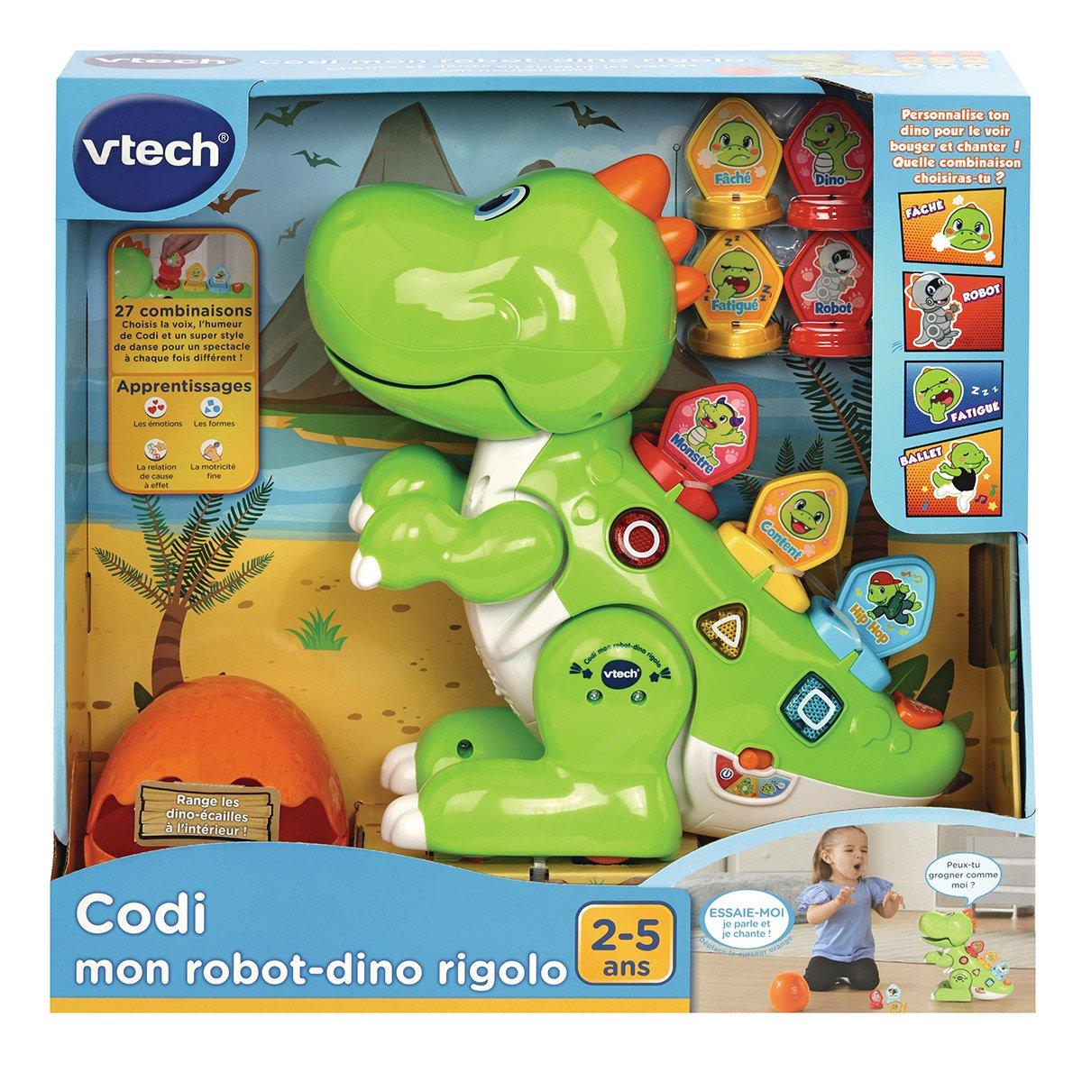 Codi Mon Robot Dino Rigolo Vert - Jeux Éducatifs à Jeux Educatif 2 Ans