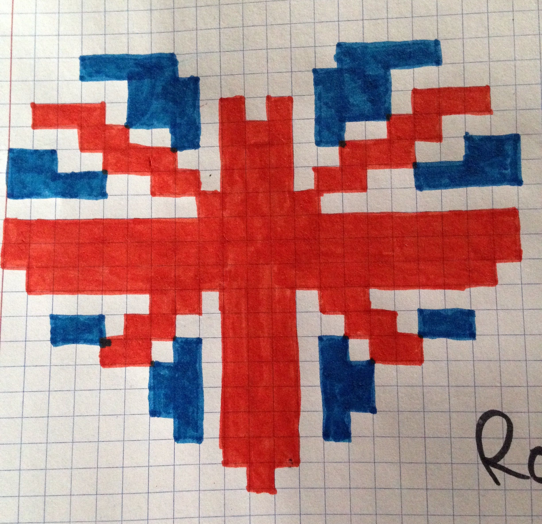 Coeur Angleterre | Coloriage Pixel, Pixel Art, Dessin Pixel serapportantà Dessin De Angleterre