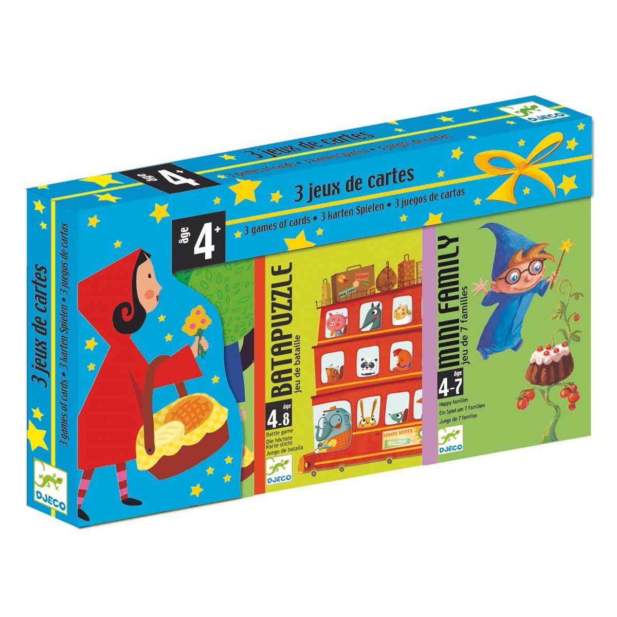 Coffret 3 Jeux Cartes Djeco Pour Enfant De 4 Ans À 7 Ans à Jeux Enfant 7 Ans