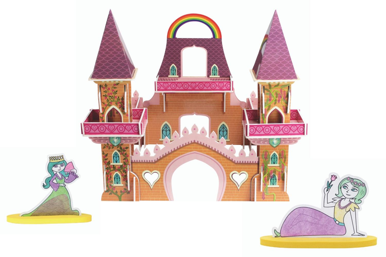 Coffret Château De Princesse - Construction Et Plastique tout Dessin Chateau Princesse