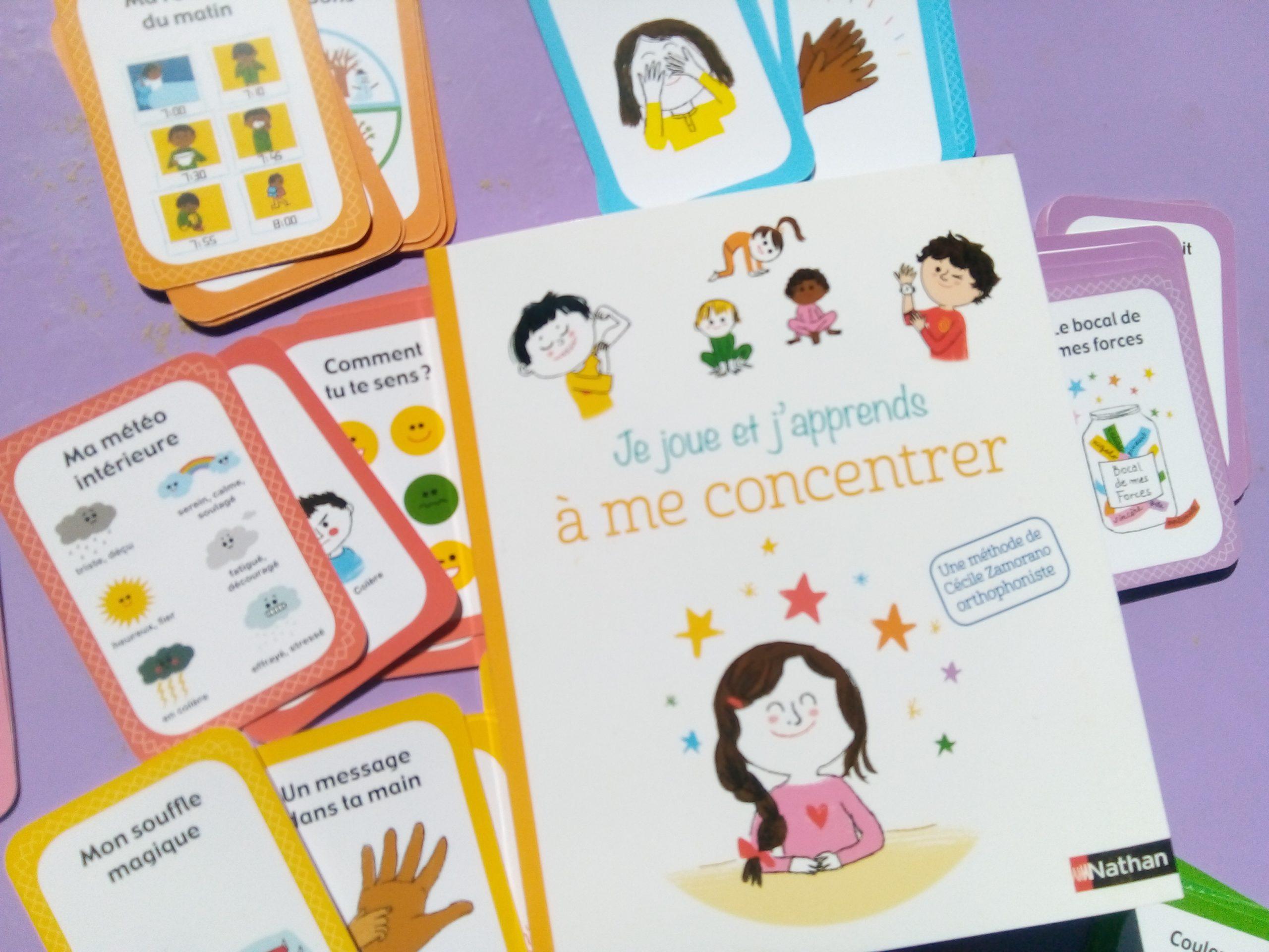 Coffret Concentration Pour Les Enfants : Un Jeu De Cartes avec Jeux Pour Enfant 6 Ans